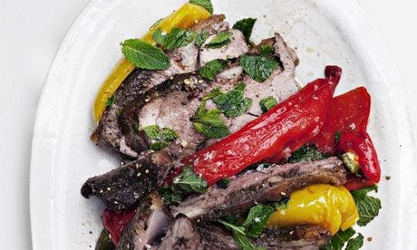 Nigel Slater's summer roast recipes For an easy and exotic lunch, rub a tender joint with Middle Eastern spices and cook it over a tray of colourful vegetables. Then serve it on the patio in the sunshine