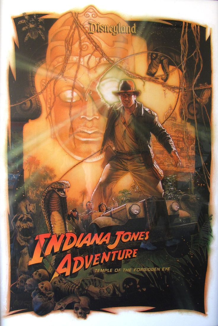 indianjones birthday party invitations%0A Indiana Jones Adventure  Temple of the Forbidden Eye   Poster art for the Indiana  Jones