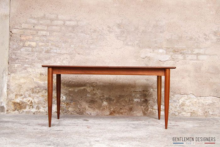 Table rallonges int gr e scandinave en teck gentlemen - Meubles made in france ...