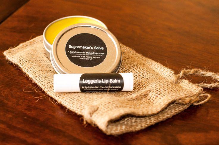 Outdoorsmen Sugarmaker's Hand Salve & Logger's Lip Balm Gift Bag by RailCityVT on Etsy https://www.etsy.com/listing/226300576/outdoorsmen-sugarmakers-hand-salve