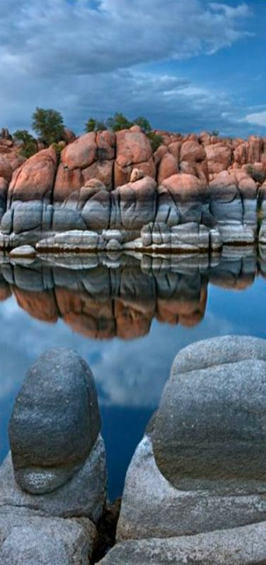 Three Amigos, This is the famous Granite Dells at Watson Lake up in Prescott. It is a very unique place in Arizona. Most everything in the southwest is orange sandstone, but this one spot is all granite   Prescott, Arizona, USA   by Mike Jones