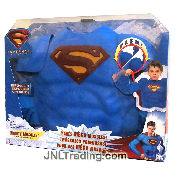 """Mattel Year 2006 DC Movie Series """" Superman Return"""" Foam MIGHTY MUSCLES Outfit with Cape Included"""