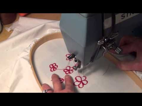 Embroidery with vintage sewing machine - YouTube