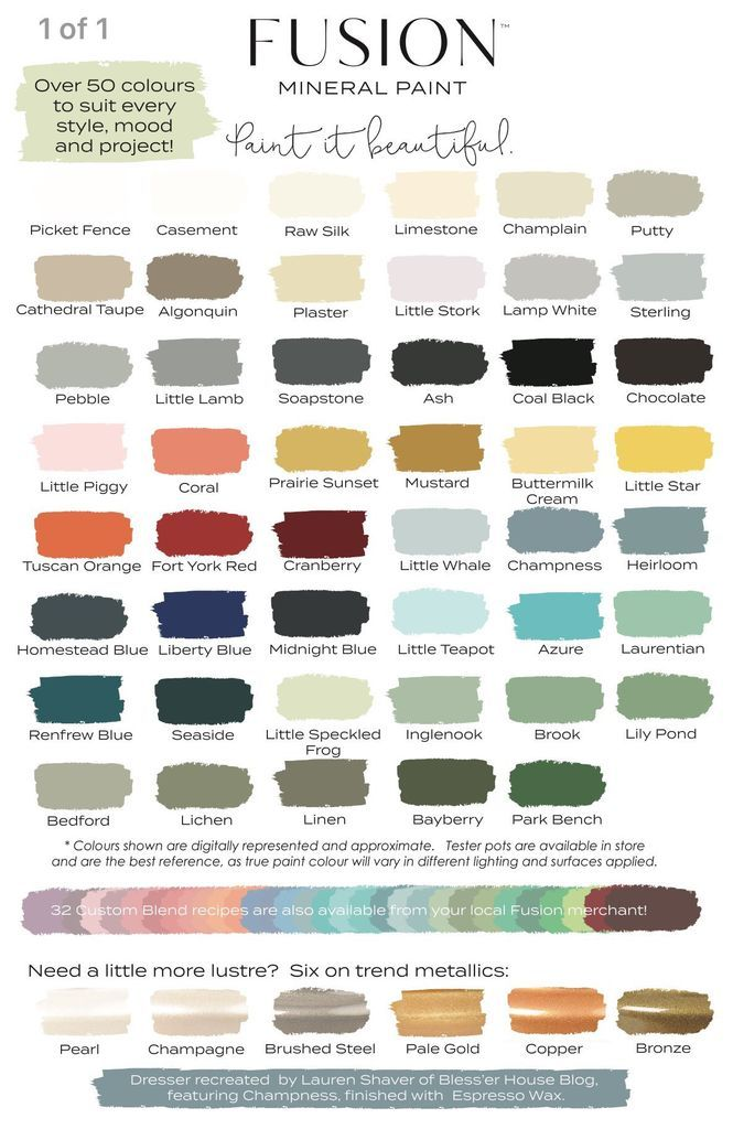 Paint Color Chart Free Pdf