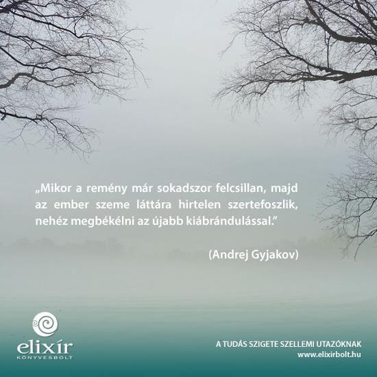 Andrej Gyjakov idézet a csalódásról. A kép forrása: Elixír Könyvesbolt