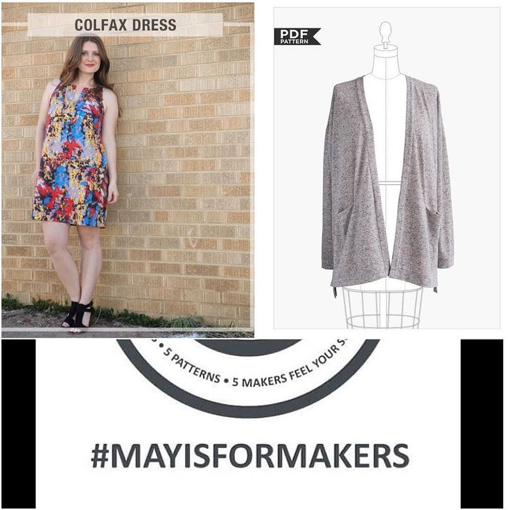 I'm not really fully participating in #mayisformakers but I couldn't pass up @truebias #ColfaxDress (purchased today) and @grainlinestudio #DriftlessCardigan (purchased 2 weeks ago) . Now to print them off & put them together & pull fabric & sew all week ! #mmmay16 #memadeeveryday #imakemyownclothes by craftymomma24_7