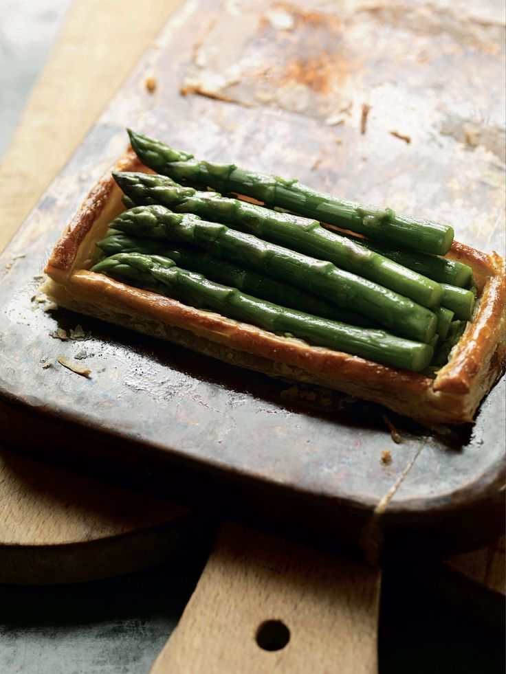 Asparagus tart recipe from Mark Hix On Baking by Mark Hix | Cooked.com