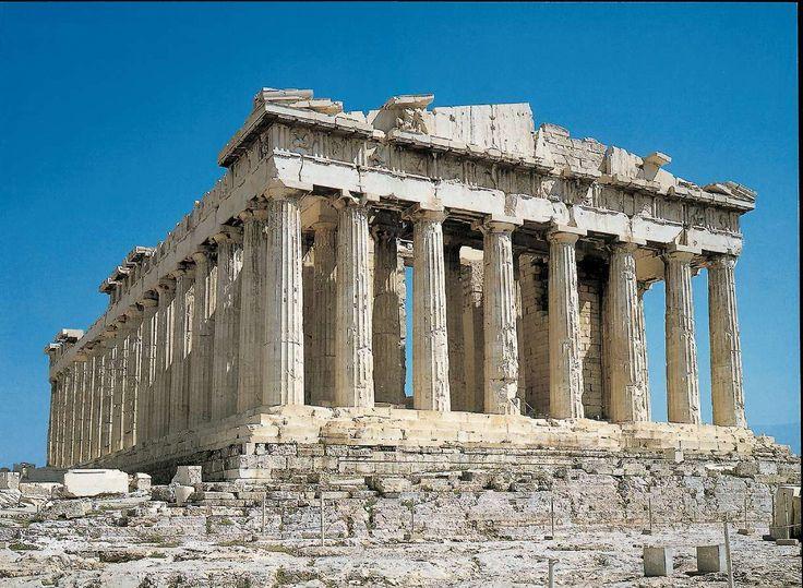 Partenone , V secolo a.C. , periodo classico. Acropoli di Atene.