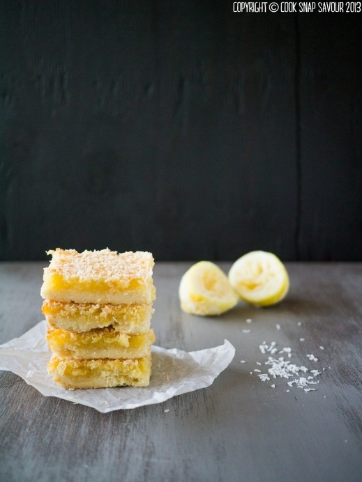 Coconut lemon bars. These delicious lemon bars come with a crunchy top ...