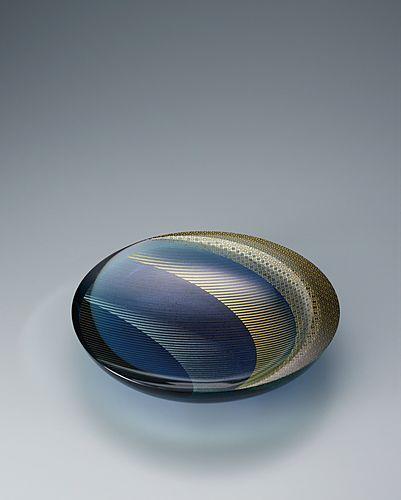 截金硝子皿「月蝕」
