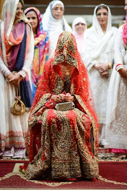 Image by:Aiya Photography. Desi South Asian Indian Muslim bride bridal outfit wedding dress. red lengha. #PerfectMuslimWedding.com