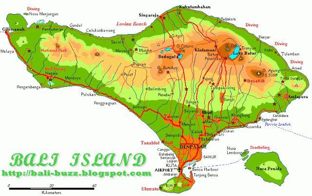 Bali and Business: Bali island geography