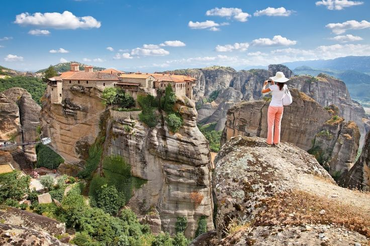 Meteora is one of the most breathtaking destinations in Greece. Ancient monasteries and unique landscapes!!   #greece #meteora #travel #traveltips #travelphoto #thessaloniki #inthesaaloniki #inthessalonikicom