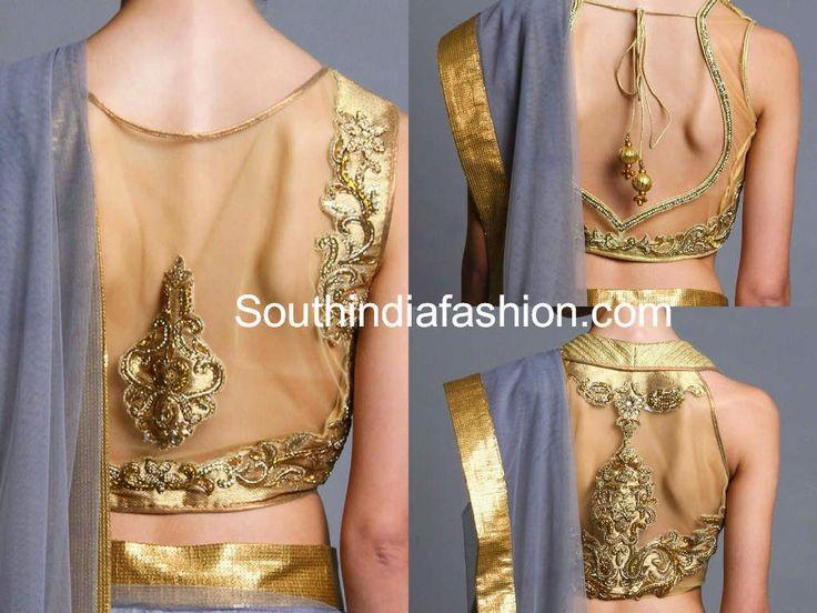 modelos blusa sari netos de oro