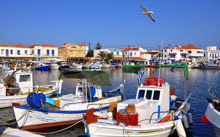 The island of Elafonisos in Greece
