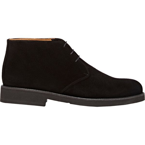 Barneys New York Suede Chukka Boots (1.045 DKK) ❤ liked on Polyvore featuring men's fashion, men's shoes, men's boots, men, shoes, black, mens chukka boots, mens black shoes, mens suede boots and mens suede chukka boots