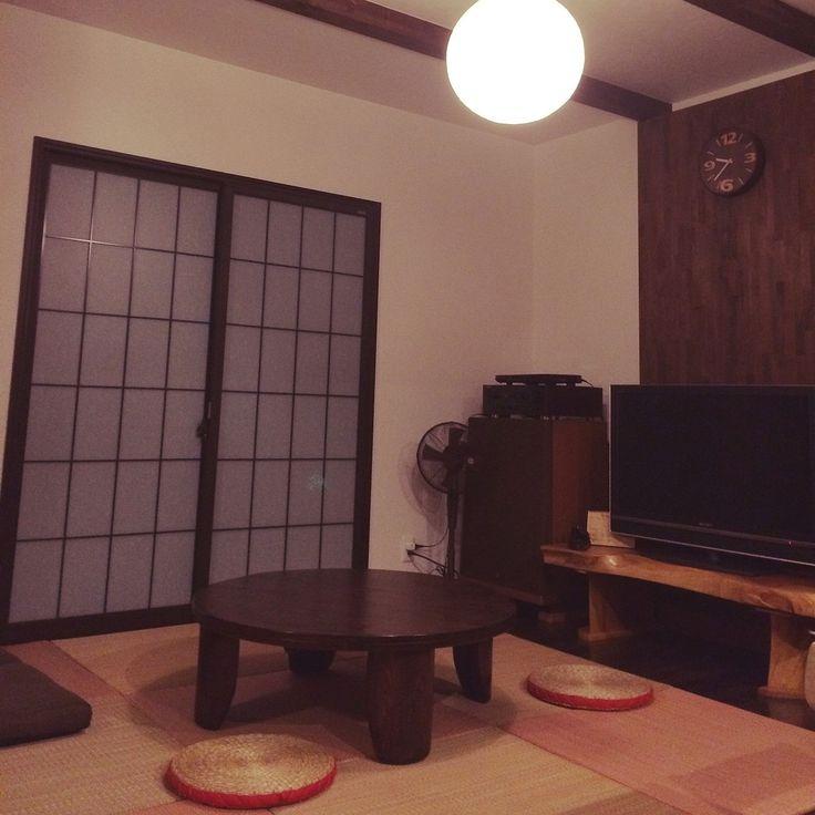 リノベーション/和風照明/和モダン/赤/障子/置き畳…などのインテリア実例 - 2015-09-16 21:54:07 | RoomClip(ルームクリップ)