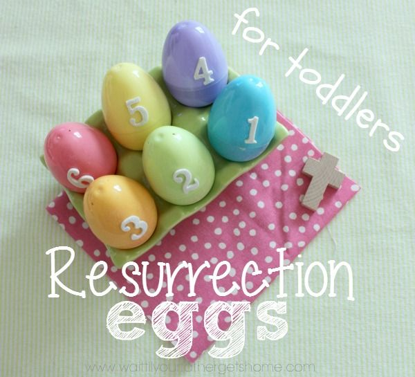 Resurrection Eggs for Toddlers from Wait Til Your Father Gets Home