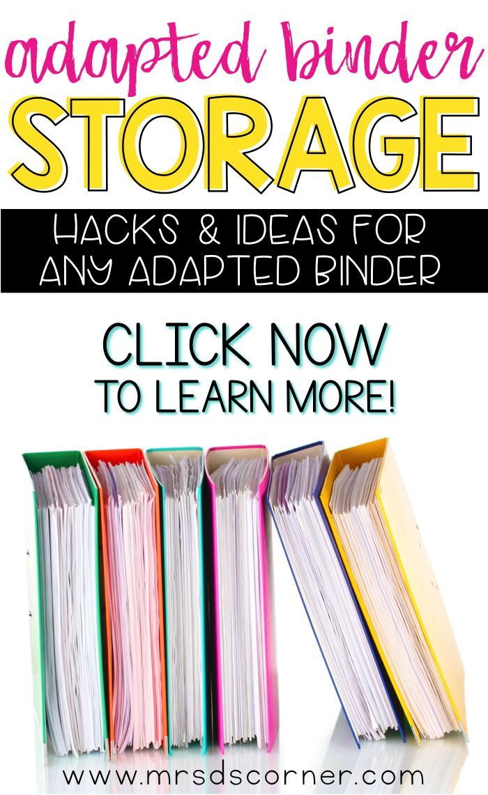 Workpages that have been mastered, pre-prepped workpages, and pages that need prepped... what do you do with all of them?! Adapted Work Binder storage hacks and ideas for any classroom! Video at Mrs. D's Corner.