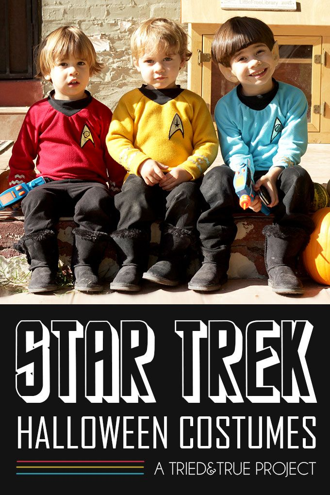 Star Trek Halloween Costume for Kids. They even have their satchel bags. And the mommy yeoman costume, so cute.