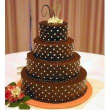 СВ 077 Торт свадебный в горошек