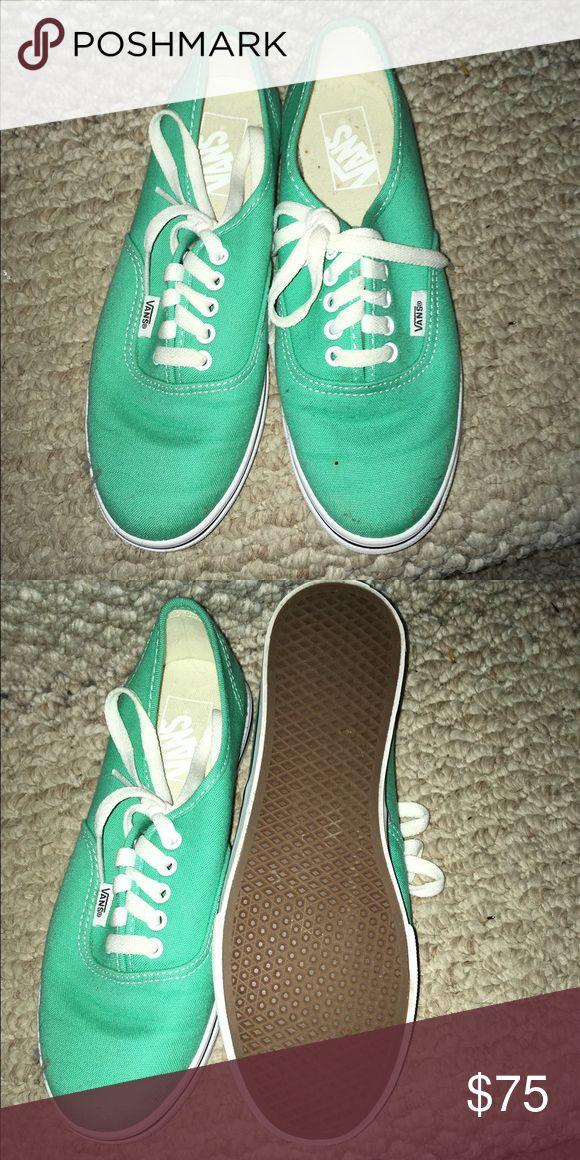 Mint green Vans NEVER WORN! Size 6.5 mint green vans Vans Shoes Sneakers