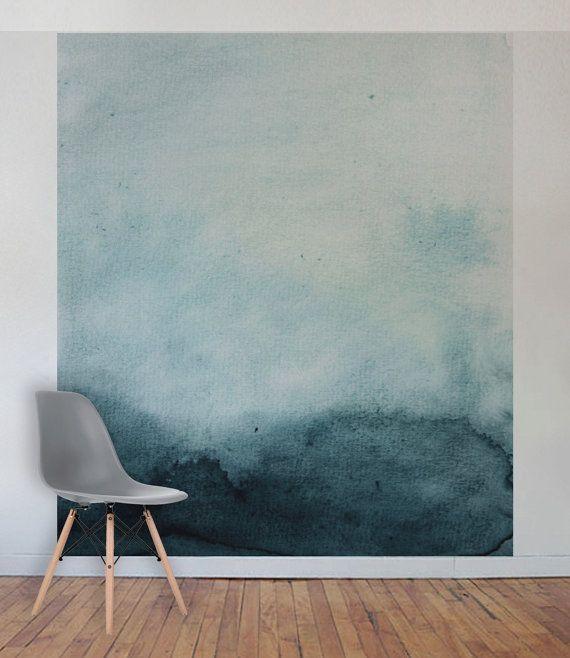 Ahnliche Artikel Wie Turkis Aquarell Wand Wandbild Selbst