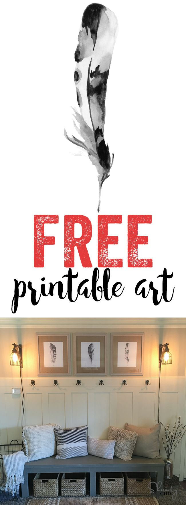 LOVE these! FREE feather art printable! These are in two different sizes too…