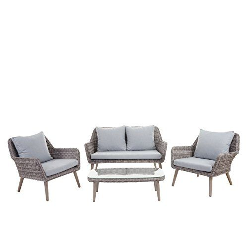 Luxus Poly Rattan Garnitur Bilbao Premium Lounge Set Gar