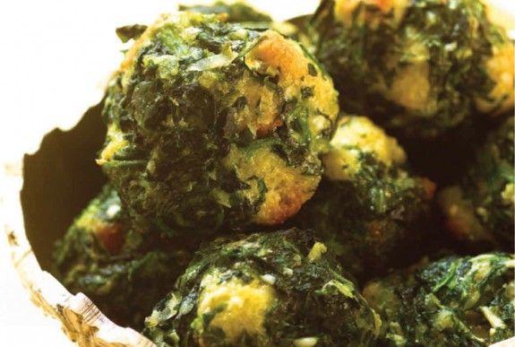Spinach Parmesan Tidbits - healthy Hanukkah recipes - Blisstree