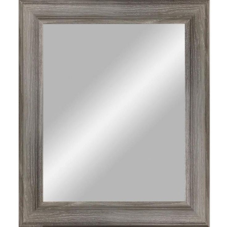 38.5-in x 48.5-in Grey Beveled Rectangle Transitional Wall Mirror