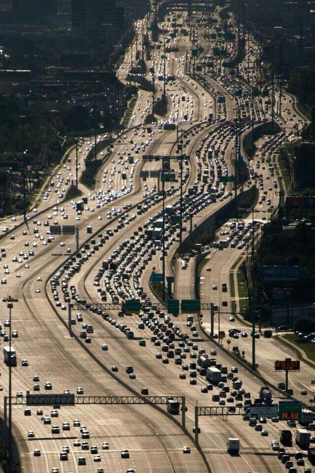 Katy Freeway, Houston, Texas- Officially the widest freeway on the planet.