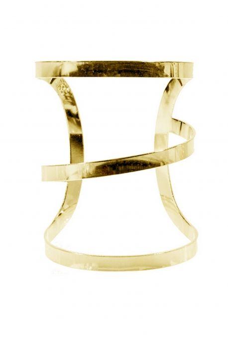 Manchette minimaliste dorée