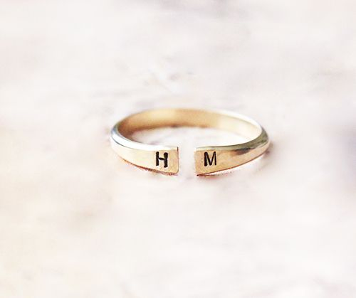 Creative Design By Thao Dainty Open Initial Ring // #Shopping