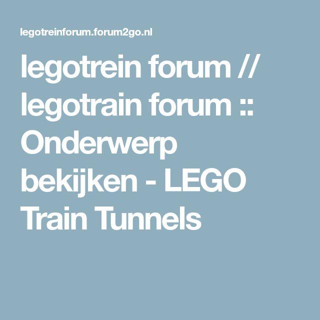 legotrein forum // legotrain forum :: Onderwerp bekijken - LEGO Train Tunnels