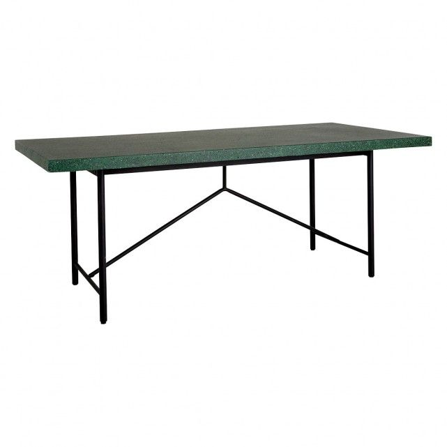 Arianne 8 Seater Green Terrazzo Dining Table Dining Table Table