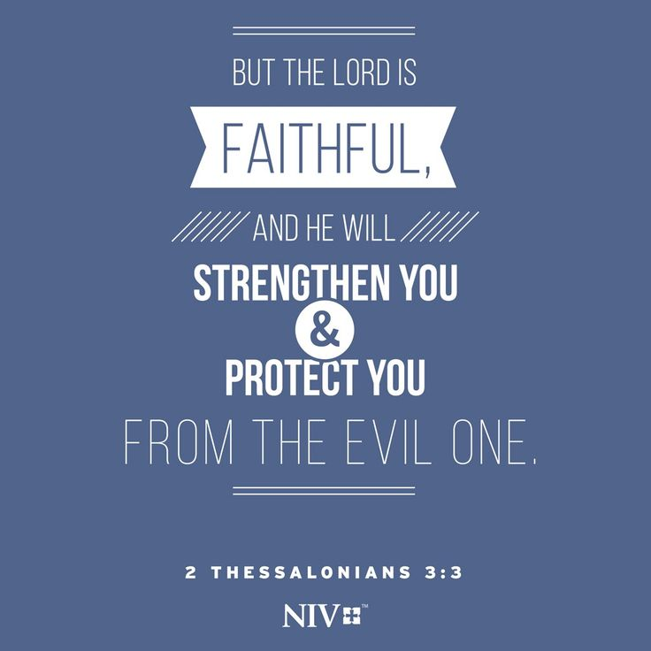 NIV Verse of the Day: 2 Thessalonians 3:3