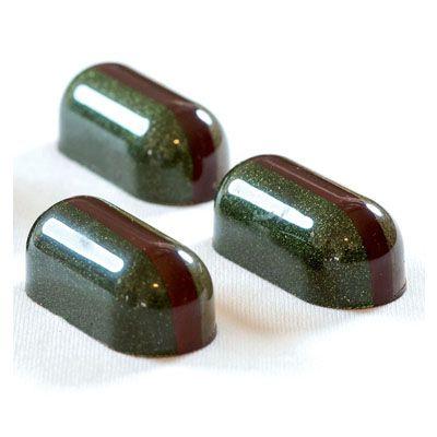 Pavoni Polycarbonate Chocolate Mold, Rounded Log, 21 Cavities