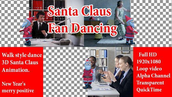 Santa Funny Dance Show