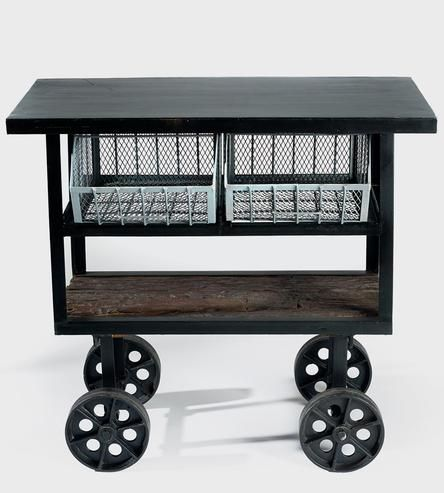 Rolling Reclaimed Wood Console Consoles Woods And