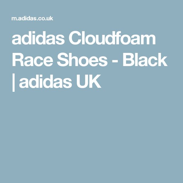 adidas Cloudfoam Race Shoes - Black | adidas UK