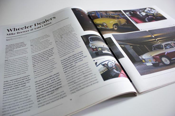 """W 2. numerze nie zabrakło też ciekawostek motoryzacyjnych! W wywiadzie """"Wheeler Dealers"""" pomysłodawcy programu """"Fani Czterech Kółek"""" opowiedzieli o swojej pasji, którą jest renowacja starych samochodów."""