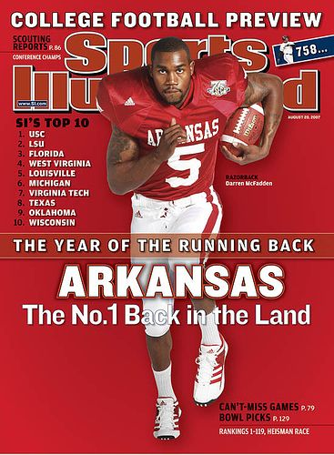 arkansas razorbacks football | Arkansas junior Darren McFadden is featured on this week's edition ...