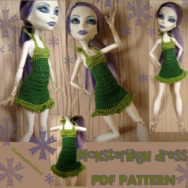 'Crocheting : Monster High clothes: cute dress