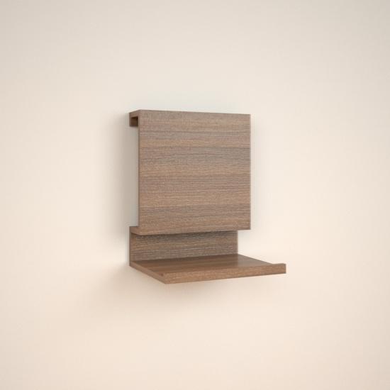 Modelo Andira. Estantería minimalista y elegante. Muy recomendable como pieza de diseño y decoración. Apropiada para crear ambientes y como elemento decorativo en dormitorios. Realizada en grueso de 16 mm.