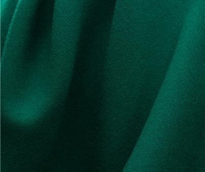 Empire Verdant Green-Wool Crepe