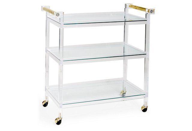 Jones Bar Cart, Clear