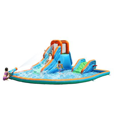 Bounceland Cascade Inflatable Water Slides with Large Pool 5041,    #Bounceland_5041