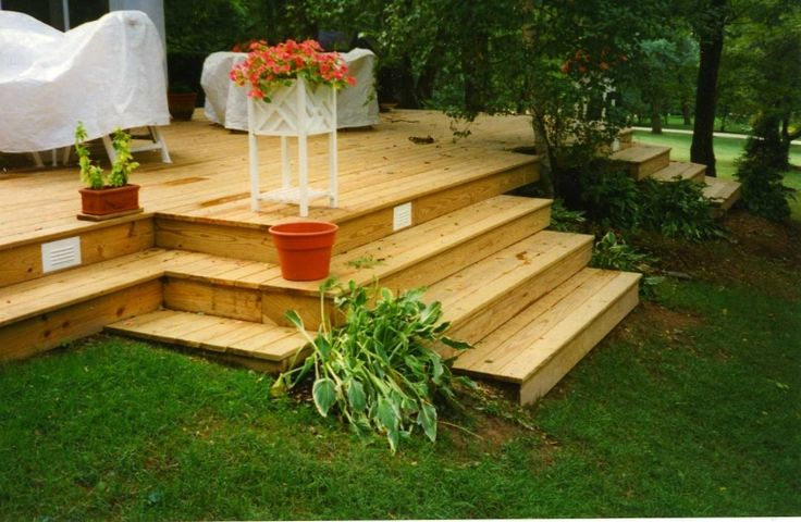 Pin by Debra Michaels on Kids playground | Sloped backyard ... on Decking Ideas For Sloping Garden id=71286
