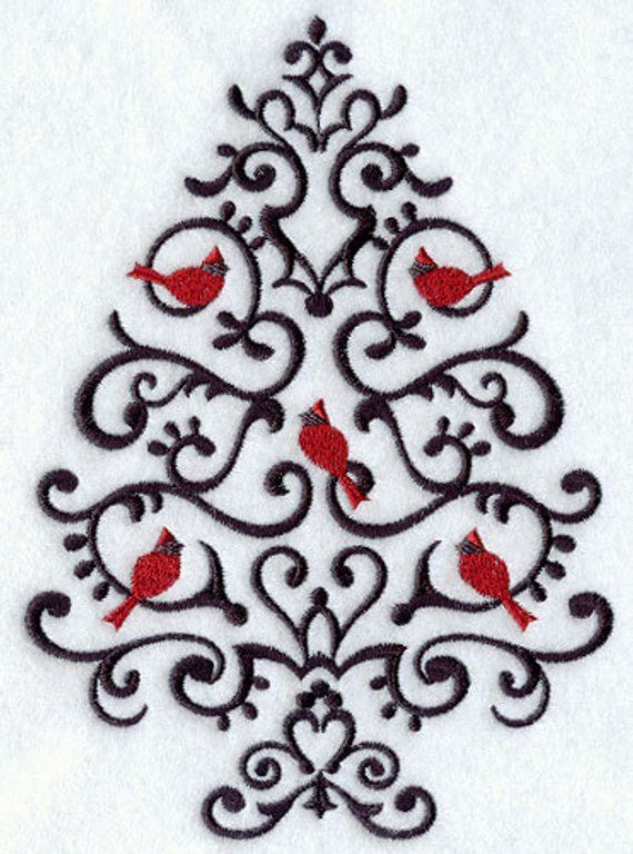 Wrought Iron Christmas Tree Embroidered Waffle Weave Hand Dish Etsy Sewing Embroidery Designs Machine Embroidery Designs Embroidery Shop